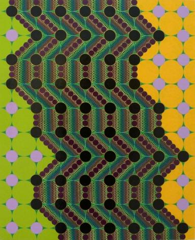 Geoffrey Todd Smith Nail Polish Maneuver, 2013 Enamel, gouache, acrylic and ink on panel 20 x 16 in.