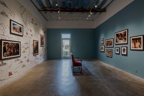 Installation View of Ken Gonzales-Day: Bone-Grass Boy: The Secret Banks of the Conejos River