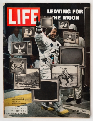 Dennis Koch, LIFE Cutout No.055 (July 25, 1969, Moon TVs), 2018