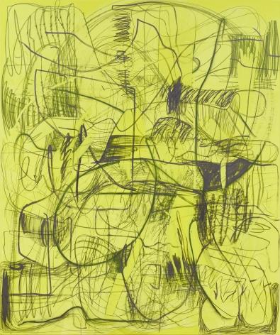 Jana Schröder, Kadlites L2, 2018, Acrylic, graphite and lead on canvas 94 1/2 x 78 3/4 in (240 x 200 cm), JSR18.001