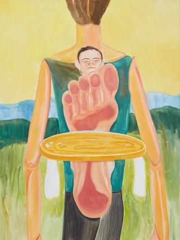 Tomasz Kowalski, Untitled (Coin), 2018. Oil on canvas, 78 3/4 x 59 1/8 x 1 5/8 in, 200 x 150 x 4 cm (TKO18.005)