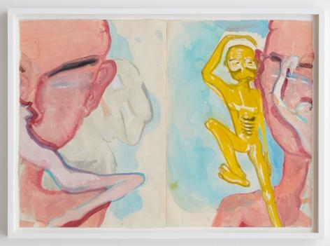 Tomasz Kowalski, Untitled, 2018. Watercolor on paper, 17 x 24 in, 43.2 x 61 cm (TKO18.017)