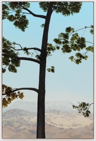 Jake Longstreth, In Glendale (Pine 5), 2020. oil on muslin, 85 x 57.25 in, 213.4 x 144.8 cm (framed). (JLO20.003)