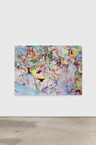 Gerlind Zeilner K und andere Cowgirls, 2015 Oil and egg tempera on canvas 63 x 86 5/8 in 160 x 220 cm (GZE20.008)