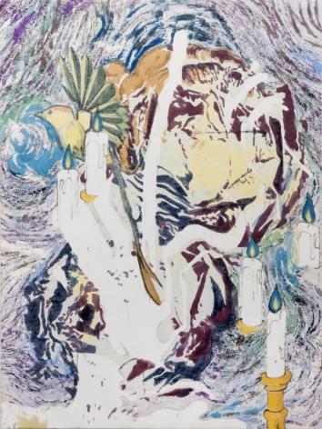 Chris Hood, Lagoon, 2017. Alkyd on canvas, 79 x 59 inches, 200 x 150 cm CH17.007