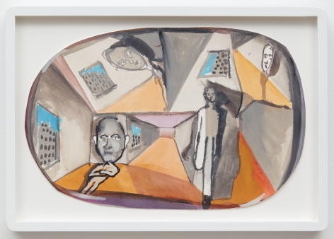 Tomasz Kowalski, Untitled, 2018. Watercolor on paper, 14 3/8 x 9 1/2 in, 36.6 x 24.1 cm (TKO18.013)