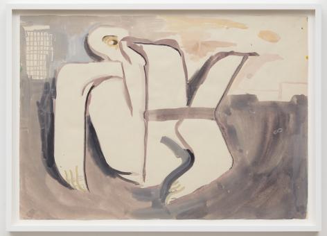Tomasz Kowalski, Untitled, 2018. Watercolor on paper, 17 x 24 in, 43.2 x 61 cm (TKO18.023)