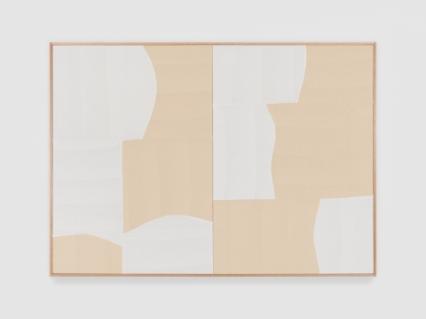 Ethan Cook In A Silent Way, 2021 Handwoven cotton and linen, framed 50 x 70 in 127 x 177.8 cm (ECO21.020)