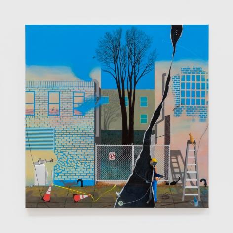 Soyeon Shin Bushwick Avenue, 2019 Acrylic on canvas 36 x 36 in 91.4 x 91.4 cm (SSH20.004)