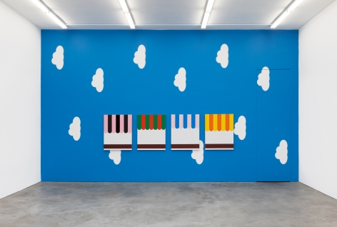 Installation view 2 of Thomas Wachholz: Books and Boxes (July 20-August 31, 2019) at Nino Mier Gallery, Los Angeles