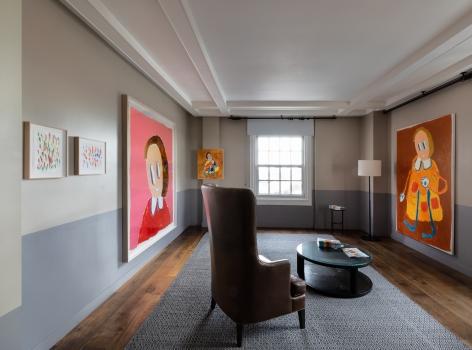 André Butzer, FELIX LA 2019, Installation view, full room view
