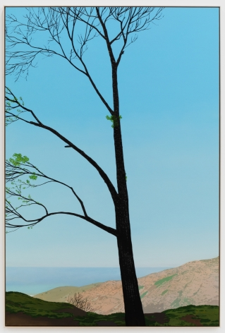Jake Longstreth, In Malibu (New Growth 1), 2020. Oil on muslin, 85 x 57.25 in, 216 x 145.5 cm (framed). (JLO20.008)