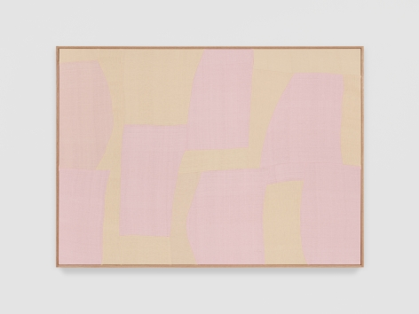 Ethan Cook Fantasy Impromptu, 2021 Handwoven Cotton and linen, framed 50 x 70 inches 127 x 177.8 cms (ECO21.027)
