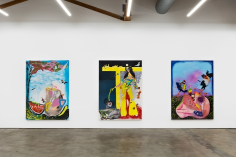Installation View 7 of Alessandro Pessoli The Woodstock's Boy (November 9–December 21, 2019), Nino Mier Gallery, Los Angeles, CA