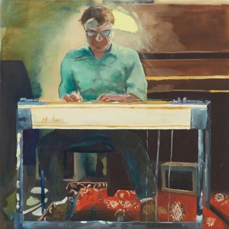 Celeste Dupuy-Spencer, Hinman, 2018. Oil on linen, 21 x 21 in, 53.3 x 53.3 cm (CDS18.043)