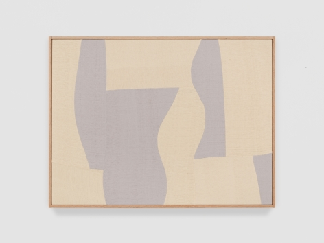 Ethan Cook Silver Rondo II, 2021 Handwoven Cotton and linen, framed 30 x 40 in 76.2 x 101.6 cm (ECO21.038)