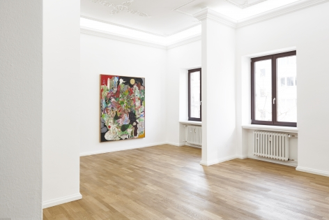 Installation view of Michael Bauer: New Paintings (April 19-22, 2018) at Salon Nino Mier, Cologne