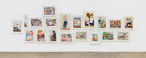 Installation View 2 of Rebecca Ness: Pieces of Mind (July 10–August 31, 2020). Nino Mier Gallery, Los Angeles, CA
