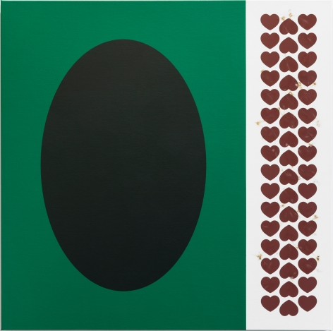 "Thomas Wachholz, ""MATCHBOX"" #1, 2019, Acrylic and red phosphorus, binder on canvas, 39 3/8 x 39 3/8 x 1 3/8 in (100 x 100 x 3.5 cm), TW19.001"