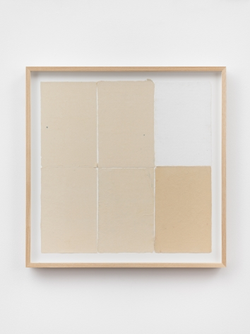 Ethan Cook, Five alabasters, white, 2020. Handmade pigmented paper 19 3/4 x 19 1/2 in, 50.2 x 49.5 cm (ECO20.048)