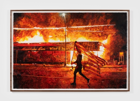 Conrad Ruiz Death or Glory, Just Another Story, 2020 Watercolor on paper 45 x 67 in 114.3 x 170.2 cm (CRU20.001)