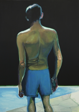 Jonathan Wateridge Back, 2018 Oil on linen 66 7/8 x 47 1/4 in 170 x 120 cm (JWA20.006)