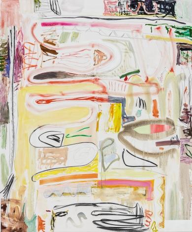 Andreas Breunig, Body Possibility No7, 2019, Oil, graphite, charcoal on canvas 90 1/2 x 74 3/4 in (230 x 190 cm), ABR19.028