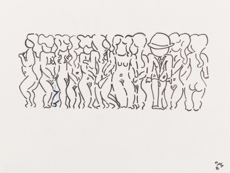 William N. Copley, Untitled, 1991. Ink on paper, 18 x 24 in, 45.7 x 61 cm (WC20.028)