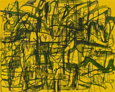 Jana Schröder, Kadlites VL2, 2019, Acrylic, graphite and lead on canvas, 94 1/2 x 118 1/8 in (240 x 300 cm), JSR19.025