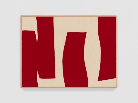 Ethan Cook Red Wind, 2021 Handwoven Cotton and linen, framed 30 x 40 inches 76.2 x 101.6 cms (ECO21.035)