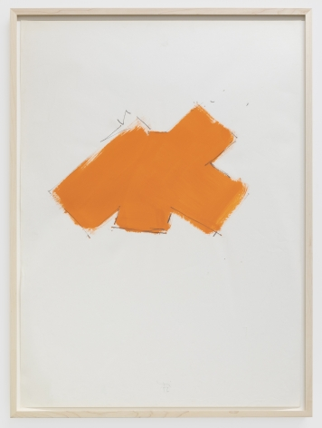 Imi Knoebel Untitled, 1976 Oil and graphite on paper 39 3/8 x 27 1/2 in 100 x 70 cm (IK76.002)