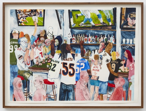Celeste Dupuy-Spencer It's a Sports Bar But It Used To Be a Gay Bar, 2016 Watercolor and gouache on paper 24 x 30 in 61 x 76.2 cm (CDS16.033)