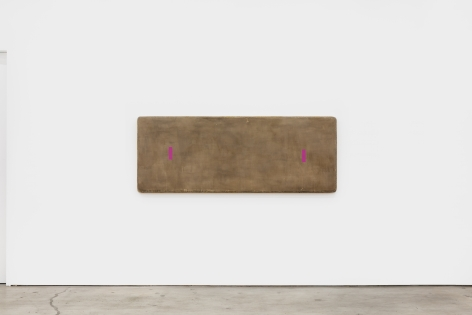 Otis Jones Two Magenta Rectangles Far Apart, 2021 Acrylic on linen on wood 30 x 80 x 5 in 76.2 x 203.2 x 12.7 cm (OJO21.012)
