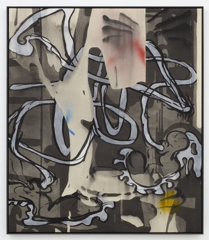 Jan-Ole Schiemann, Modzombie I, 2015, Ink and acrylic on canvas, 140 x 120 cm, JS15.013