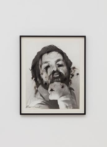 Arnulf Rainer, Untitled (Face Farces), 1970-75, Ink, graphite, wax pencil on photograph, 23 3/8 x 18 3/4 in (59.3 x 47.7 cm), ARA19.005