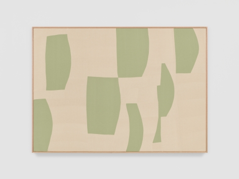 Ethan Cook Green Timbre, 2021 Handwoven Cotton and linen, framed 50 x 70 inches 127 x 177.8 cms (ECO21.033)