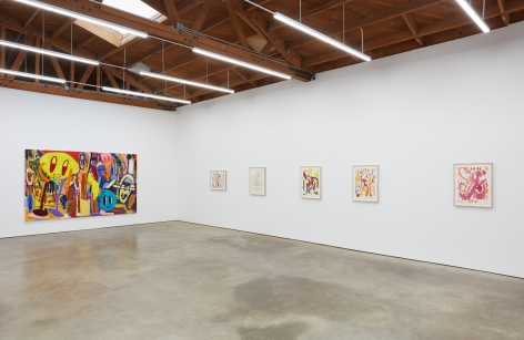 """Installation View of """"Verbotene Plätze,"""" and series of Butzer Drawings"""