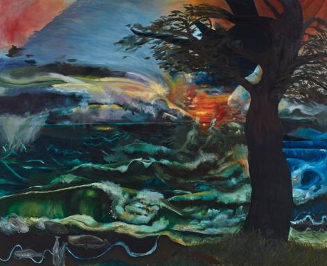 Celeste Dupuy-Spencer TBT (Water Landscape), 2018 Oil on linen 108 x 132 in 274.3 x 335.3 cm (CDS18.036)