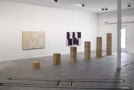 Installation View of Ethan Cook, Landscapes  (October 7 - December 4, 2021) Nino Mier Gallery, Marfa, TX