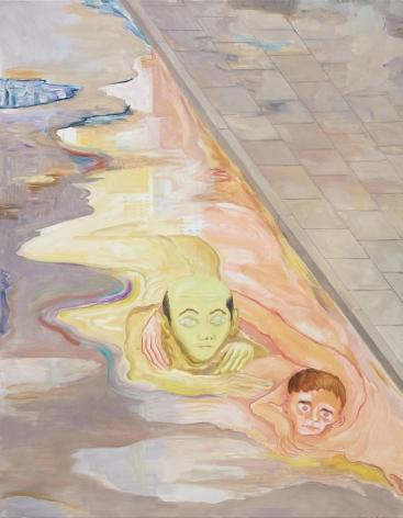 Tomasz Kowalski, In the Gutter, 2018. Oil on canvas, 70 7/8 x 55 1/8 x 1 5/8 in, 180 x 140 x 4 cm (TKO18.006)