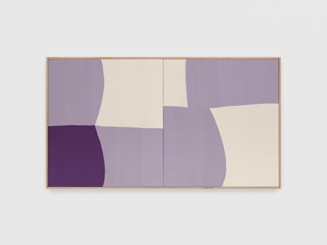 Ethan Cook  Whole Lotta Love Purple, 2021 Handwoven cotton and linen, framed 32 x 58 in81.3 x 147.3 cm(ECO21.013)