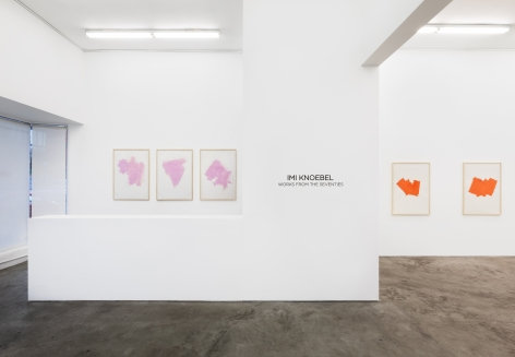 Installation view 7 of Imi Knoebel: Works from the Seventies (November 9-December 21, 2019) at Nino Mier Gallery, Los Angeles