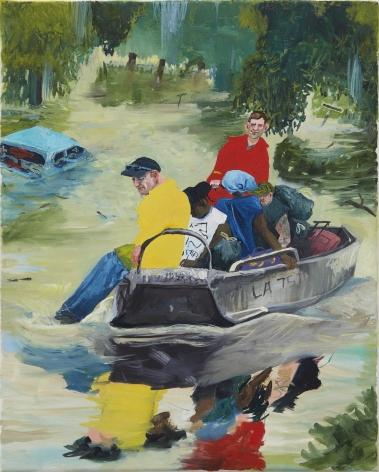 Celeste Dupuy-Spencer Cajun Navy, 2016, 2017 Oil on canvas 16 x 19 in 40.6 x 50.8 cm (CDS17.010)