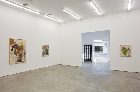 Installation view 2 of Michael Bauer: Soft Paintings (Bearnaise) (January 27 – March 11, 2017), Nino Mier Gallery, Los Angeles