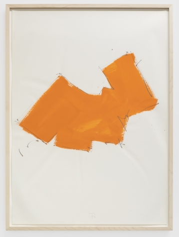 Imi Knoebel Untitled, 1976 Oil and graphite on paper 39 3/8 x 27 1/2 in 100 x 70 cm (IK76.005)