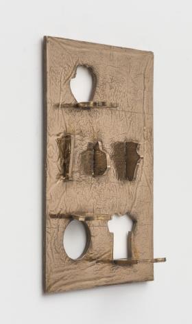 Zak Kitnick The Rounding Home Years (Baseball Cookie Cutter Set - 6 Piece - Bat, Ball, Glove, Jersey, Cap, Shoe - Ann Clark - Tin Plated Steel), 2020 Bronze 15 x 22 in 38.1 x 55.9 cm (ZKI20.008)