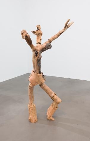 Nicola Tyson Dancing Figure 2, 2016 Apple, elm, and wood 79 x 46 x 40 in 200.7 x 116.8 x 101.6 cm (NTY21.002)