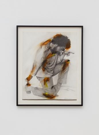Arnulf Rainer, Body-Pose, 1972, Mixed media photograph, 23 5/8 x 18 1/2 in (60 x 47 cm), ARA19.002