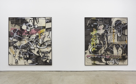 """Installation View of """"MYS/MOS #4"""" and """"MYS/MOS #5"""""""
