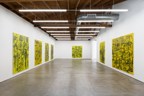 """Installation View of Gallery 1 Exhibition """"Kadlites"""", 2019 from Entrance"""